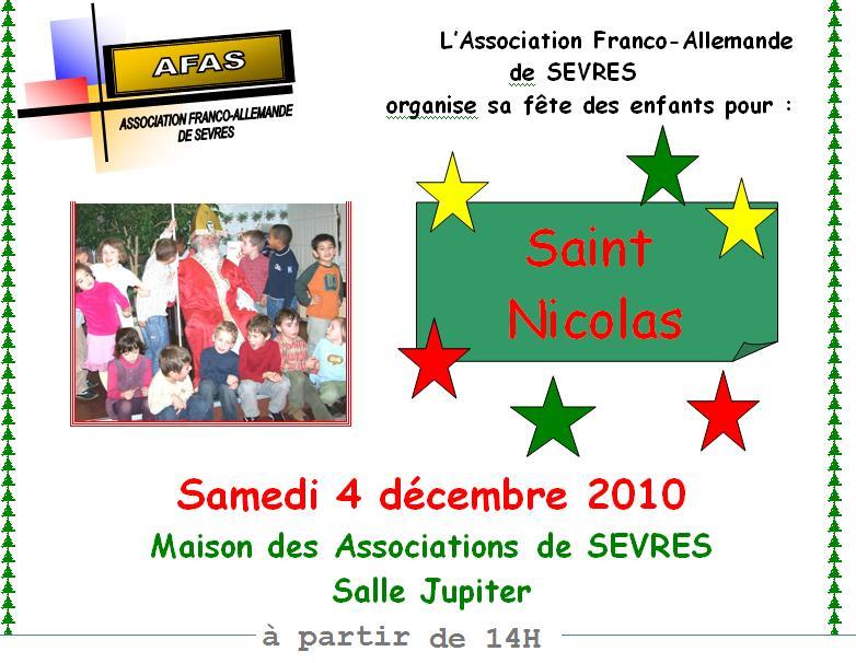 affiche Saint Nicolas 2010