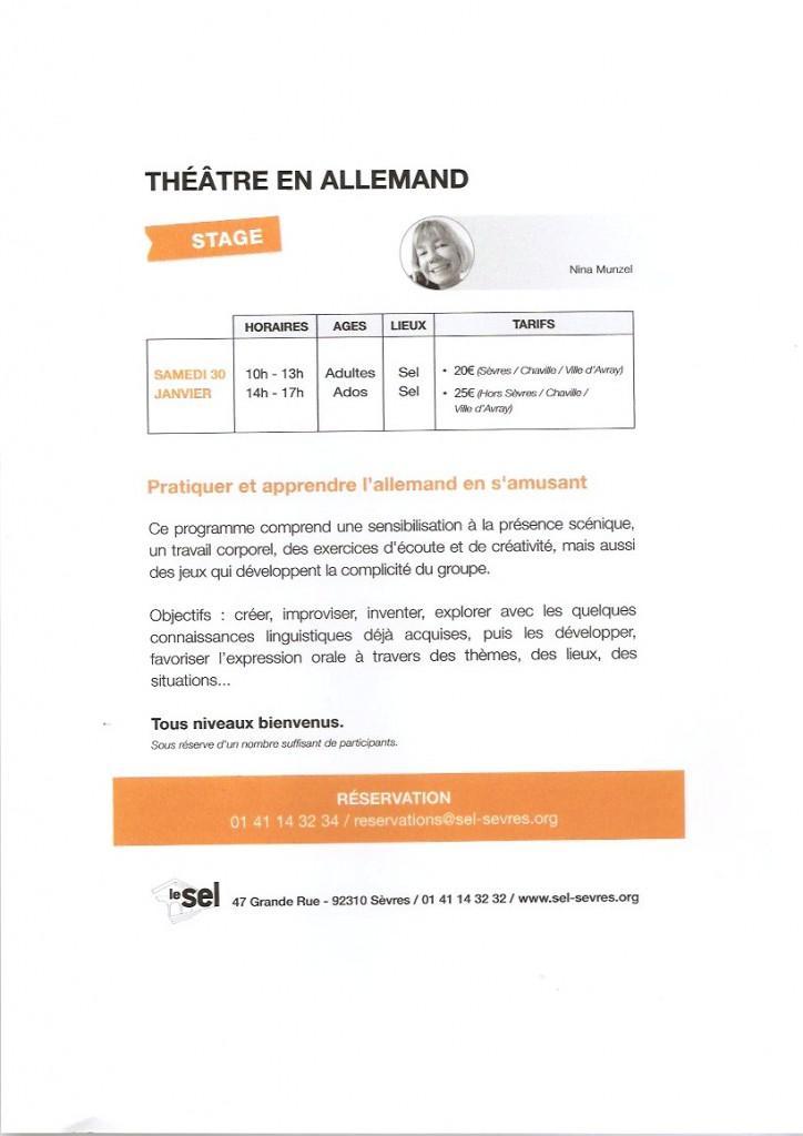 SEL Théâtre dt 30 janv 2016